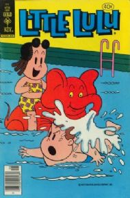 Vintage Children's book cover poster - Little Lulu